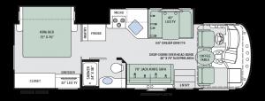 2017 Thor ACE Class A Floor Plan