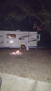 Blue Angel RV Park Bonfire
