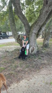 Gypsy and Cerys at Blue Angel Rv Park