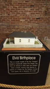 Model of the home Elvis grew up in.