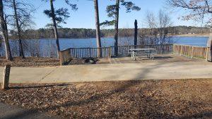 Buckhorn Creek RV site with deck