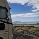 Camping by the Great Salt Lake