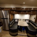2018 Thor Outlaw 37 RB Dinette and Refrigerator